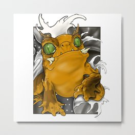 Neo traditional tattoo-style Toad Metal Print