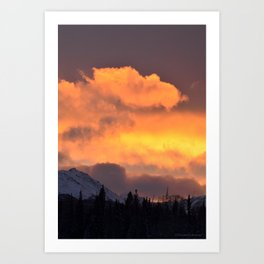 Sunrise Behind Chugach Mts ~ II Art Print