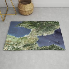 The Isthmus of Corinth has played a very important role in the history of Greece Rug