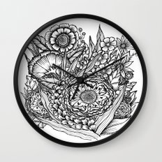 Fantasy Flower Illustration I Wall Clock