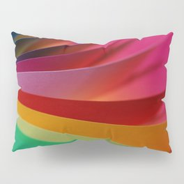 Colorful Modern Rainbow Bright Papers Cool Photo Pillow Sham