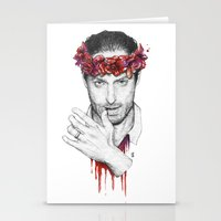 rick grimes Stationery Cards featuring Rick Grimes by Nikita Jobson