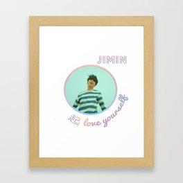 BTS Love Yourself Wonder Design - Jimin Framed Art Print