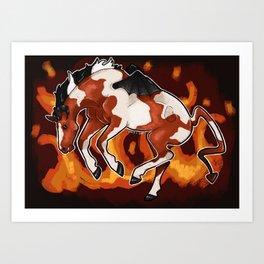 Devil Horse Art Print
