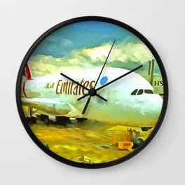 Emirates A380 Airbus Pop Art Wall Clock