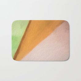 Abstract Pink Orange and Green Shades.   Like painted on canvas. Bath Mat