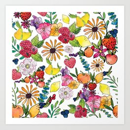 Fruits in the Forest Art Print