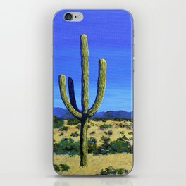 Cactus In the West by Mike Kraus - home decor cactus cacti interiors desert mountains blue yellow iPhone Skin