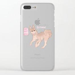 Fem shibe Clear iPhone Case