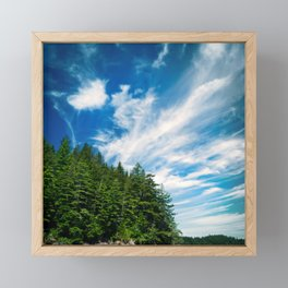 Long Island, Washington Sky Framed Mini Art Print