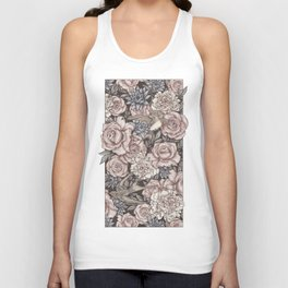 Flowers & Swallows Unisex Tank Top