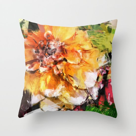 Dreamsicle - Amazing Rainbow of Colors Digitally Enhanced Photo  Throw Pillow