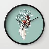 fairy tale Wall Clocks featuring Fairy Tale by Freeminds
