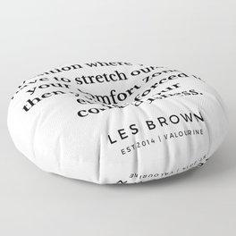 23    |  Les Brown  Quotes | 190824 Floor Pillow