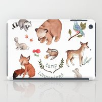 camp iPad Cases featuring Camp Companions by Brooke Weeber