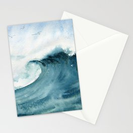 Wave Watercolor Study Stationery Cards