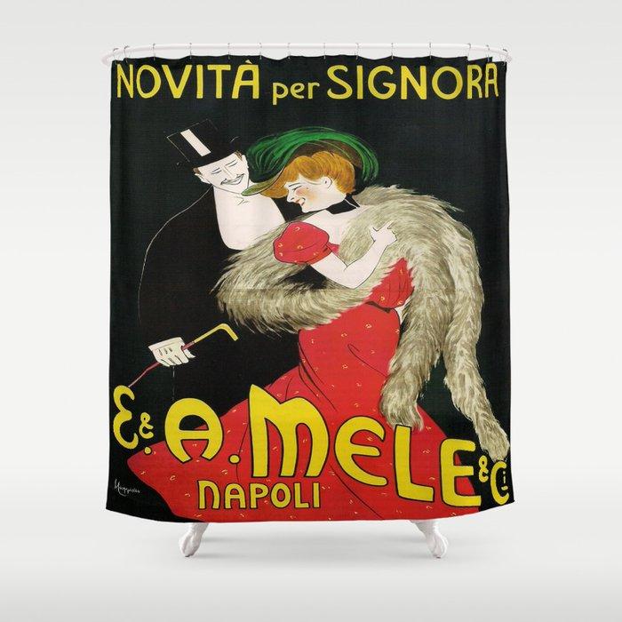 Vintage poster - Novita per Signora Shower Curtain