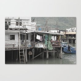 Street Photo - Old Village Canvas Print