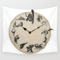 final fantasy Wall Tapestries featuring FINAL FANTASY CLOCK by DrakenStuff+