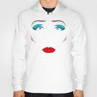 hedwig Hoodies featuring John Cameron Mitchell as HEDWIG by KnoblArt