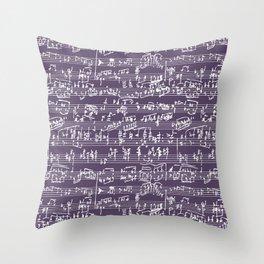 Hand Written Sheet Music // Honey Flower Throw Pillow