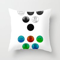 lincoln Throw Pillows featuring Lincoln by NOLAN DEMPSEY