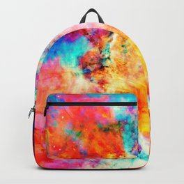 Colorful Abstract Nebula Backpack