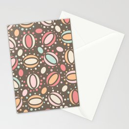 Retro pattern. Beans. Stationery Cards