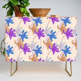 colourful autumn leaves Credenza