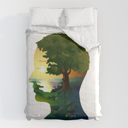 human nature, inner space of a portrait Comforters