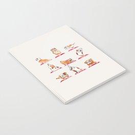 English Bulldog Yoga Watercolor Notebook