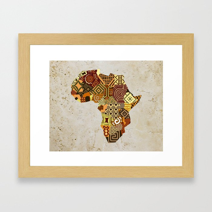 9982cc330a88 African Map II Framed Art Print by lanrepeacock