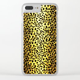 Leopard Print Animal Wallpaper Clear iPhone Case