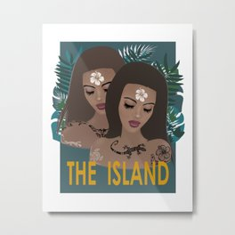 THE ISLAND . with text Metal Print