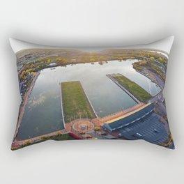 Syracuse Inner Harbor Aerial Photo Rectangular Pillow