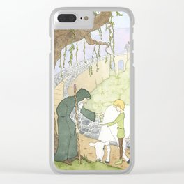 The Mysterious Man's Mysterious Beans Clear iPhone Case