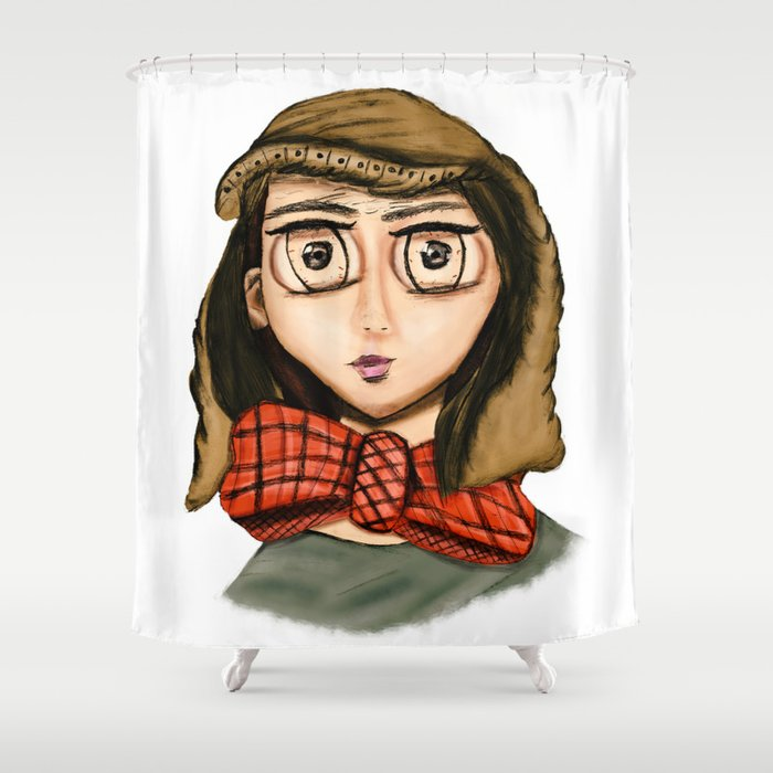 Dexter Griffin Shower Curtain By Autumnworks