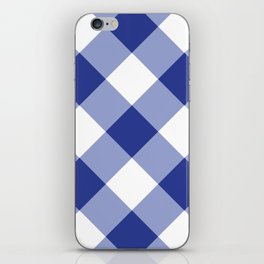 Gingham - Navy iPhone Skin