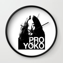 Pro Yoko Ono Wall Clock
