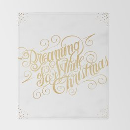 Dreaming of a White Christmas Throw Blanket