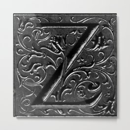 the Letter Z Metal Print