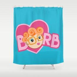 Barb Is My Valentine Shower Curtain