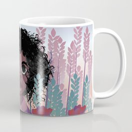 Girl with Flowers Coffee Mug