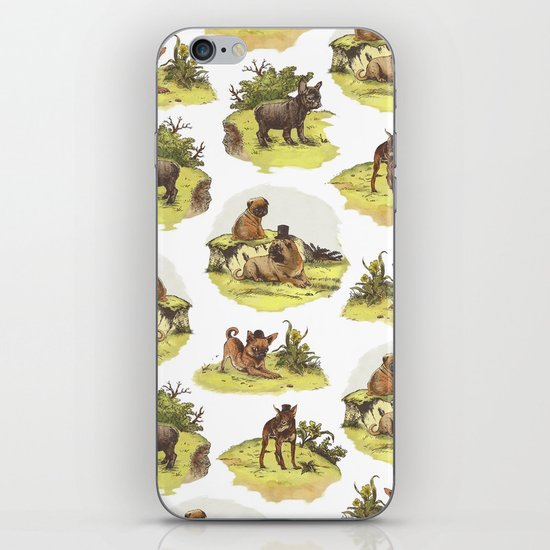 Vintage Dogs iPhone & iPod Skin