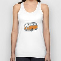 vw Tank Tops featuring VW Campervan by Lara Trimming