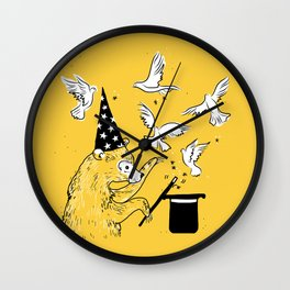 bear the magician Wall Clock