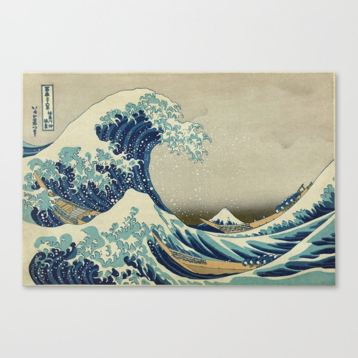 The Classic Japanese Great Wave off Kanagawa Print by Hokusai Leinwanddruck