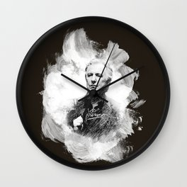 "Laptop-Skin ""Alan Rickman - Artist´s Brushes"" Wall Clock"