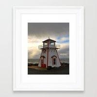 lighthouse Framed Art Prints featuring Lighthouse by Sartoris ART