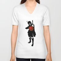 boba V-neck T-shirts featuring Boba by michael newton